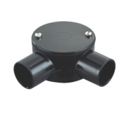 Tower 2-Way Angle Box 25mm Black Pack of 1