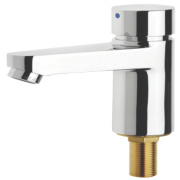 Franke Aqualine-C Self-Closing Hot Water Bathroom Basin Pillar Tap
