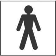 Gents Toilet Symbol Sign 150 x 150mm