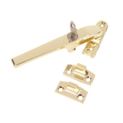 Jedo Lockable Casement Stay Polished Brass 140mm