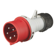 380-415V MK Commando Interlocked Straight Plug 3P+E+N (IP44)