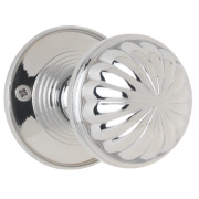 Jedo Fluted Door Knob Polished Chrome 65mm Pack of 2
