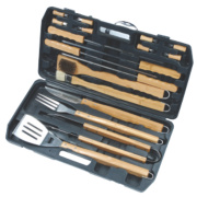 Grillstream Classic Bamboo Barbecue Tools 18 Piece Set x x mm