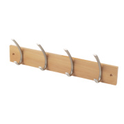 Select Headbourne Hat & Coat Hook Rail Beech 450 x 130mm