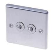 LAP 2-Gang 2-Way 10AX Toggle Switch Stainless Steel