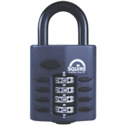 Squire All-Weather Combination Padlock Black 40mm