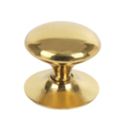 Traditional Victorian Cabinet Door Knobs Polished Brass 38mm Pack of 5