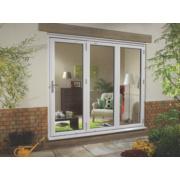 uPVC Fold & Slide Double-Glazed Patio Door RH White 1790 x 2090mm
