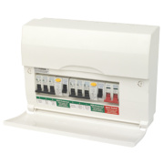 BG 6-Way High Integrity Dual RCD Consumer Unit + 6 MCBs