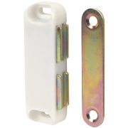 Magnetic Cabinet Catches White 65mm Pack of 10