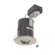 JCC Lighting Fixed Fire Rated LED Shower Downlight Brushed Chrome 5W 240V