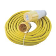 CED 110V Extension Lead Yellow 2.5mm x 14m