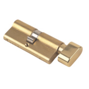 Yale 6-Pin Euro Cylinder Thumbturn Lock 35-35 (70mm) Polished Brass