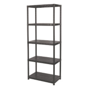 Solid Plastic Shelving with 150kg Capacity 5-Tier Tier