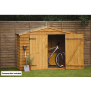 Forest Overlap Apex Bike Store 7' x 3' x 1.6m (Nominal)