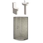 Orlando Contemporary Bathroom Suite with Quadrant Shower Enclosure