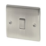 British General 10AX Intermediate Light Switch Brushed Iridium
