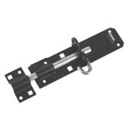 Brenton Gate Bolt Black 180mm
