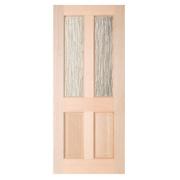 Jeld-Wen Taylor 2-Light Double-Glazed Exterior Door Unfinished Meranti Veneer 838 x 1981mm