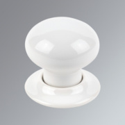 Jedo Porcelain Mortice Knob Pack White mm