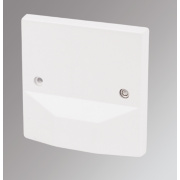 LAP 1-Gang 45A Cooker Outlet Plate White