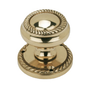 Mortice Knob Polished Brass 51mm