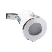 Robus Fixed Round Mains Volt Fire Rated Downlight Pk10 Polished Chrome 240V