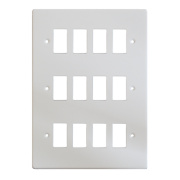 Varilight XDQPG12 12-Gang PowerGrid Faceplate White