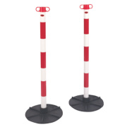 JSP Barrier Chain Support Posts & Bases Red & White Pack of 2