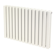 Reina Neva Double Panel Designer Radiator White 550 x 590mm 3364BTU