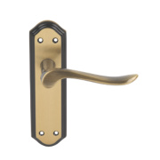 Carlisle Brass Lytham Lever on Backplate Latch Pack Florentine Bronze