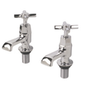 Swirl Deco Bath Taps Pair