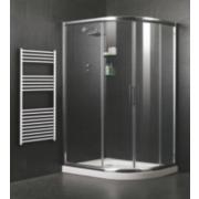 Framed Sliding Door Offset Quadrant Shower Enclosure RH Pol. Silver 780mm