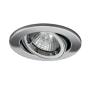 JCC Lighting Adjustable Round Fire Rated Recessed Downlight Chrome 240V