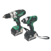 Hitachi KC18DKL/JB 5.0Ah Li-Ion 18V Twin Pack Combi Drill & Impact Driver