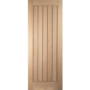 Jeld-Wen Cottage Solid Cottage Interior Panelled Door Oak Veneer 1981 x 610mm
