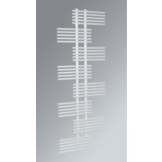 Parallel Rail Vertical Designer Radiator White 1762 x 650mm 2368BTU