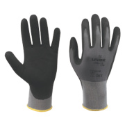 Uvex Unilite PU Palm Gloves Grey/Black Large