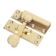 Sash Fastener Polished Brass 63mm x 22mm