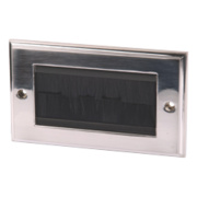 Labgear Double Brushed Faceplate Brushed Chrome