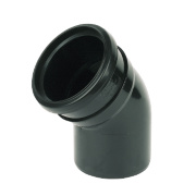 Black 135º (45°) Bend Single Socket Black SP163