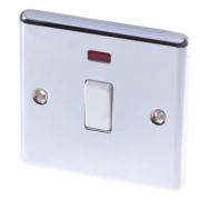 LAP 20A DP Switch with Neon Polished Chrome