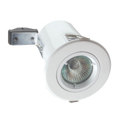 Robus Fixed Round Mains Voltage Fire Rated Downlight White 240V