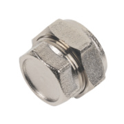 Chrome Stop End 22mm