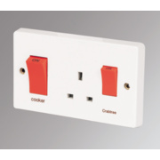 Crabtree 45A DP Switch / 13A Socket Slimline