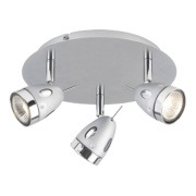 Sharp 50136 3-Light Ceiling Spotlight Chrome 50W