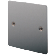 LAP 1-Gang Blank Plate Brushed Stainless Steel