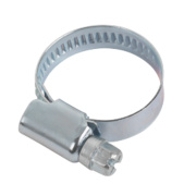 Blue Zinc-Plated Hose Clips 16-27mm Pack of 10