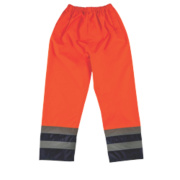Hi-Vis 2-Tone Reflective Trousers Elasticated Orange/Navy XXL 28-50