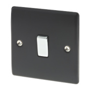 British General 10AX Intermediate Light Switch Matt Black